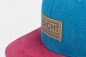 "Preview: ""dicht&ergreifend"" - blau/rot (Snapback)"